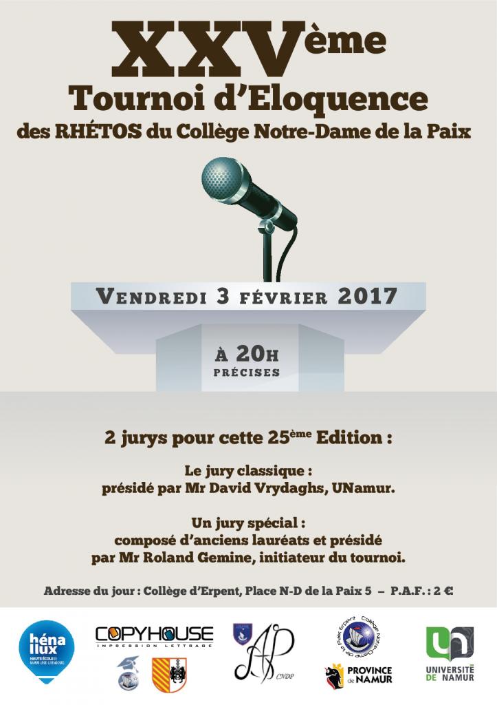 Affiche Tournoi d'éloquence 2017